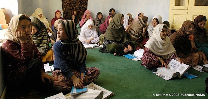 Female literacy centre in Bamyan